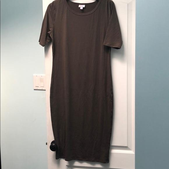 LuLaRoe Dresses & Skirts - Lularoe Julia sz M EUC brown
